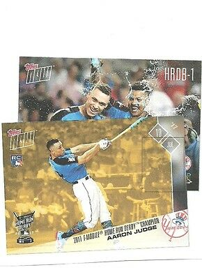 2017 Topps Now AARON JUDGE YANKEE HOME RUN DERBY CHAMPION BONUS CARD # HRDB-1 RC