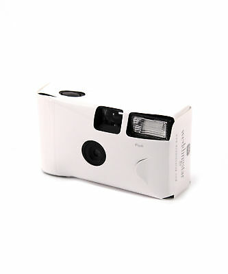 White Disposable Cameras with Flash Pack of 8