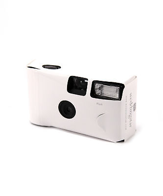 White Single Use Disposable Camera with Flash