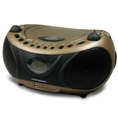 Metronic Radio CD/MP3 Pop Copper & Black - Radio CD/MP3 avec port USB