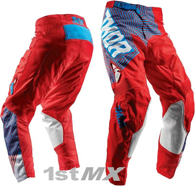 """2018 Thor Pulse Geotec Red Blue MX Off Road Motocross Race Pants Adults 44"""""""