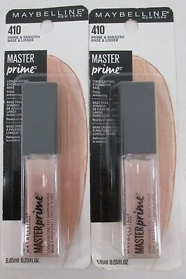 Maybelline 410 Prime and Smooth Master Prime Eyeshadow Base New Lot of 2