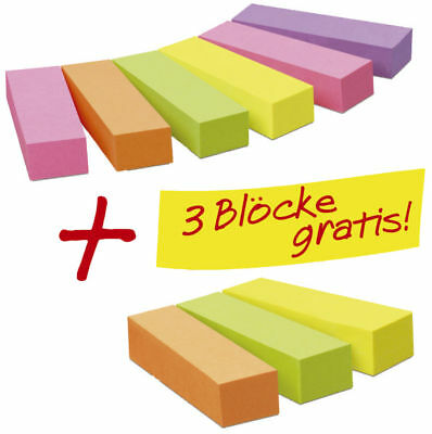 Post-it Haftstreifen Page Marker Promotion 6 x 100 + 3 x 100 gratis neonfarben