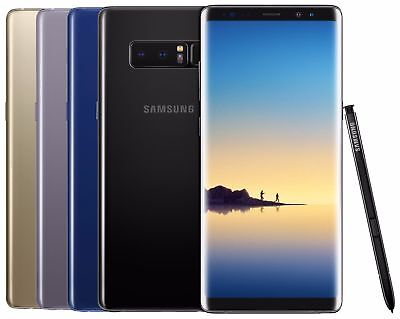 Samsung Galaxy Note 8 SM-N9500 128GB (FACTORY UNLOCKED) Black Gold Blue Gray