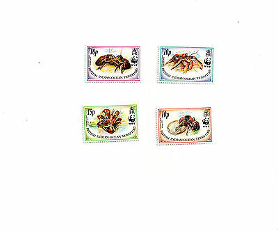 British Indian Ocean Territory timbres neuf ssch 131à134