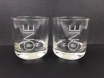 2 x THE ONE WHISKY LAKES DISTILLERY HEAVY TUMBLER GLASSES 30cl WHISKEY NEW