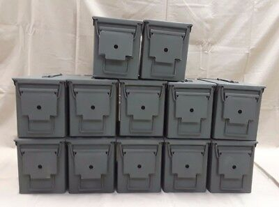 12 PACK of M2a1 50/5.56 Cal AMMO CAN EXCELLENT CONDITION-
