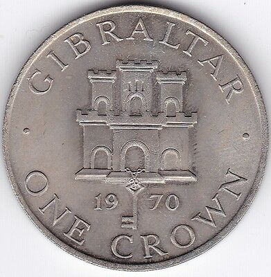 1970 Gibraltar One Crown***Collectors***