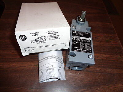 New Allen Bradley 802T-AP Plug-in Oiltight Limit Switch Series J With Instr
