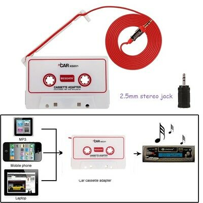 Car Cassette Tape Adapter Converter For iPhone 3G/4G MP3/4 CD AUX iPod White #2