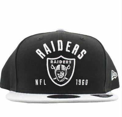Oakland Raiders Hat NFL New Era Establisher 9FIFTY Snapback Men's Cap Black