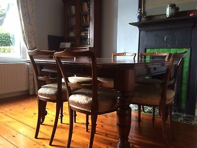 Antique Victorian Mahogany Wind out Extending Dining Table and 6 chairs