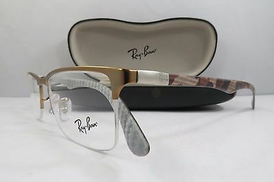 21e6f9742e7 Ray-Ban RB 8413 2690 Light Bronze Carbon Fibre New Authentic Eyeglasses 54mm