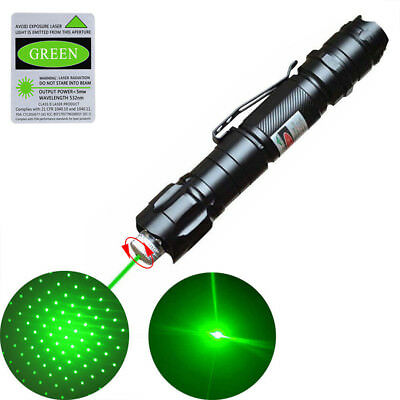 Green Laser Pointer 10 Miles Camping Lamp pen Contains Beam Signal All sky star