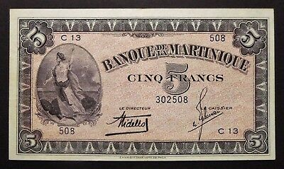Martinique - 5 Francs - 1947 - Série bleue - 1947