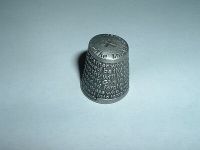 Vintage Thimble The Entire Lord's Prayer Colonial Pewter