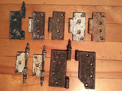 ANTIQUE VICTORIAN EASTLAKE ASSORTED HINGE PIECES, 3,4 and 5 inch