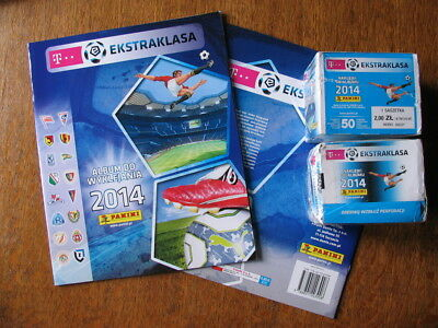 Panini Album Ekstraklasa 2014 polish league + 50 packs packets 250 stickers