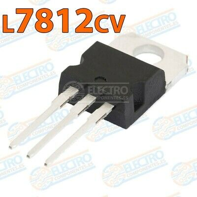 Regulador tension L7812cv L7812 12v 1,5A TO-220 - Lote 1 unidad - Arduino Electr