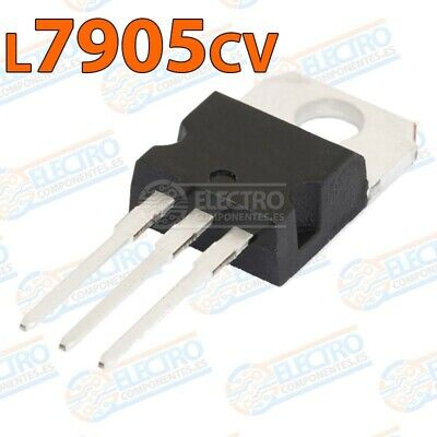 Regulador tension Negativo L7905cv L7905 -5v 1,5A TO-220 - Lote 1 unidad - Ardui