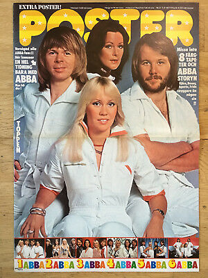 ABBA SPECIAL #1 - SWEDEN SWEDISH POSTER MAGAZINE 1970s #2-1977