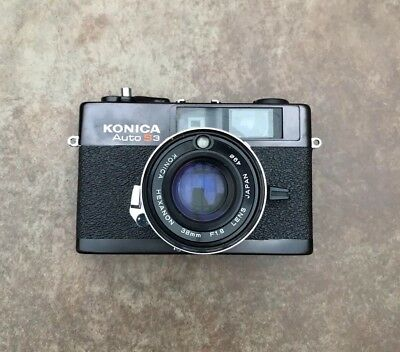 Konica Auto S3 Rangefinder Camera w/ Hexanon 32mm f1.8 Lens and Case