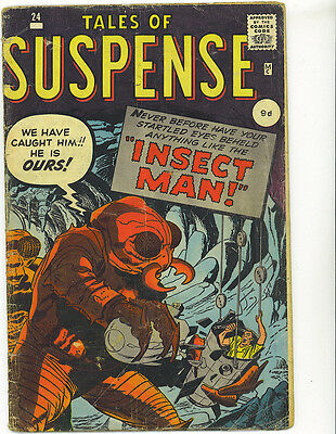Tales of Suspense 24 1961 Marvel Comics Insect Man Kirby Ditko British variant