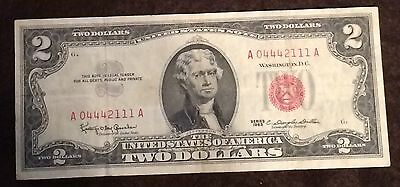 1963 Two Dollar Bill Red Seal Note Randomly Hand Picked VG - Fine FREE SHIPPING!