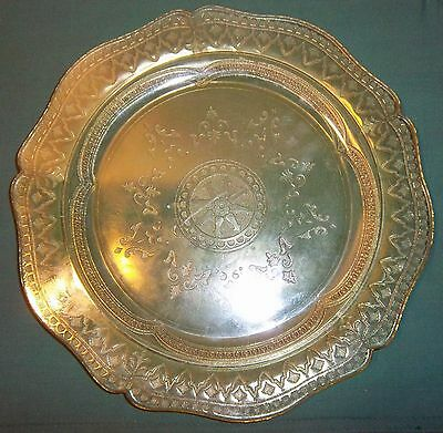 "Federal Yellow Depression Glass Plate 10"" Or Serving Platter"