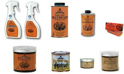 Carr & Day & Martin Belvoir Leather Care (Saddle Soap, Neatsfoot Oil, Dressing)