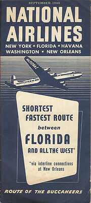 National Airlines system timetable 9/48 [6021]