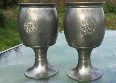 A Pair of Antique Silver Goblets