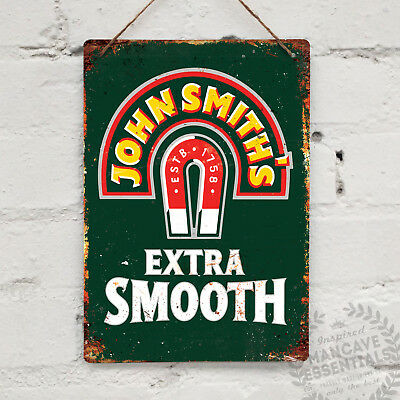JOHN SMITHS Replica Vintage Metal Wall sign Retro Pub Bar Mancave Beer Drink