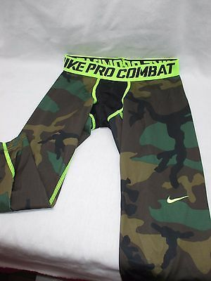 YOUTH Nike PRO COMBAT 3/4 CAMO Compression Basketball Tights LARGE 700776-274