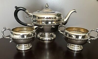 Viking Plate Silver Plated Teapot Set