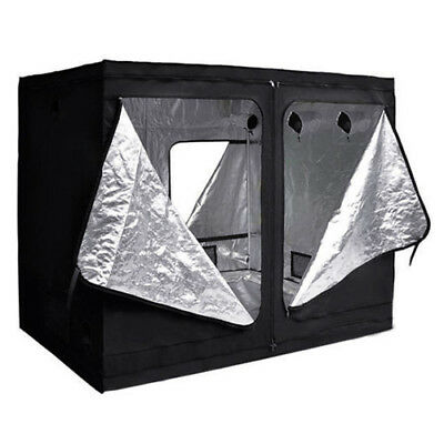 Hydroponic Grow Room Indoor Dark Room Mylar Tent Size:240x120x200cm SS