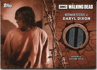 DARYL DIXON Norman Reedus 2017 THE WALKING DEAD SEASON 7 RARE RELIC CARD 9/10