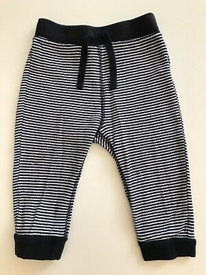Old Navy Baby Pants Pirate Halloween Leggings Black White Stripe 12-18M Bottoms