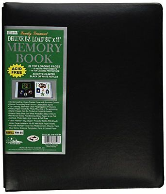 Pioneer Photo Albums 20-Page Family Treasures Deluxe Black Bonded Leather Cov...