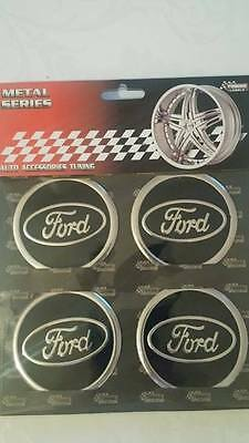 4x Ford logo center wheel cap stickers 60mm