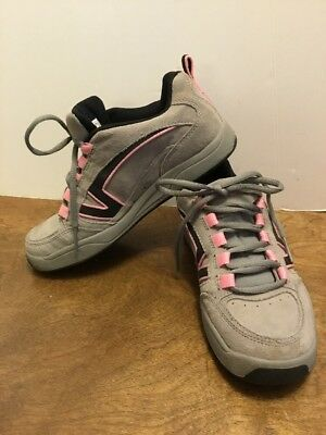 Vans Womens Shoes Size 7 Leather Gray Pink Black Sneakers Tennies Tennis  Shoes fdaf8a0b705f