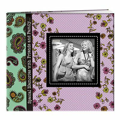 Pioneer Photo Albums 20 Page Designer Printed Raised Frame Paisley Cover Scra...