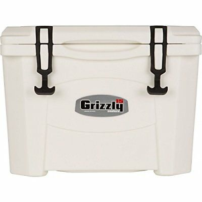 Grizzly Coolers 15 Quart Rotomolded Cooler, White