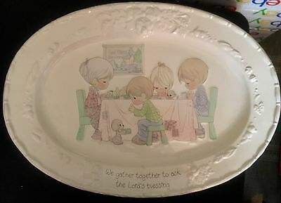 """Precious Moments LORD'S BLESSING 18"""" Oval Porcelain Serving Platter FREE SHIPPIN"""