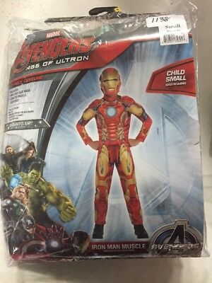NEW Halloween Avengers Age Of Ultron Iron Man Muscle Costume Child Small
