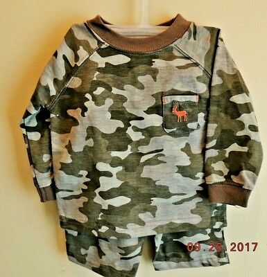 NEW 2 pc. BABY/INFANT CAMOUFLAGE SHIRT/PANTS SET FALL/WINTER INFANT 3-6 MONTHS