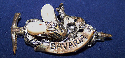Faux Tooth Hiking Hunting Vintage Oktoberfest Germany Bavaria Trachten Hat Pin