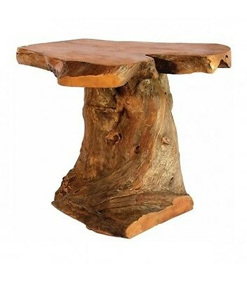 Coffee Root Wooden Stand Side Table Natural Fair Trade Indoor Outdoor Rustic 15