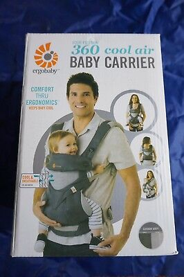 ERGOBABY 360 4 Position Ergo baby carrier / Cool Air Mesh Carbon Grey
