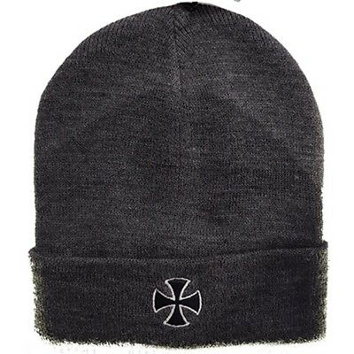 Independent - Cross Fold Over Beanie Grey Heather